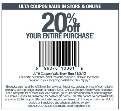 Ulta Coupon 20 Off Printable In Store Ea Origin Coupon