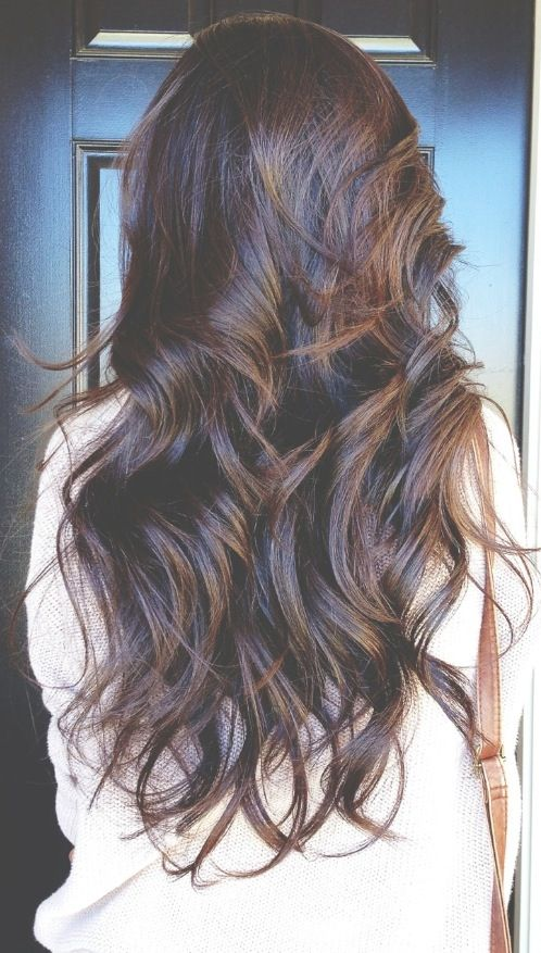 long hair  loose curls  Wavy Hair Tumblr Back Of Head