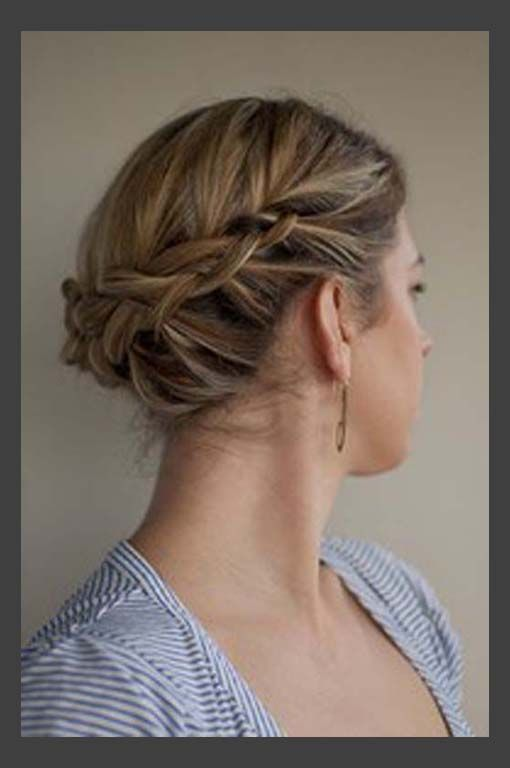 Hairstyles For Medium Length Hair And How To Do It : Updos for medium length hair your fairy godmother