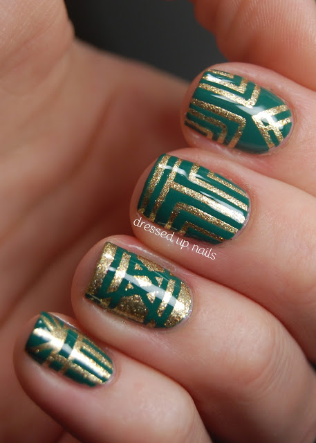 emerald-and-gold-art-deco-striping-tape-nail-art-2