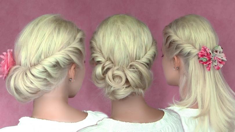 Romantic Updo Hairstyles For Medium Long Hair Hair Tutorial Your